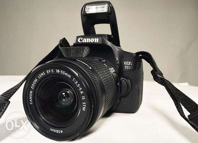 Canon EOS 750D Touch screen DSLR Camera with 18-55mm Lens brand new Nairobi CBD - image 1