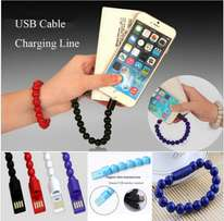 Beads bracelet charging cables
