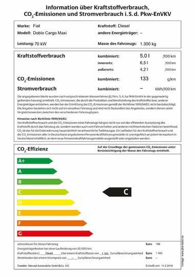 Fiat Doblo Cargo Maxi L2H1 Klima Nebel - 2019
