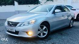 Toyota mark x new shape silver just arrived at 1,550,000