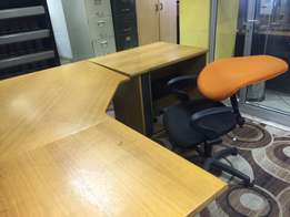 L-Shaped Desk with Credenza