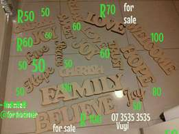 20% off when you spend R200 Wooden words Soweto Johannesburg sale