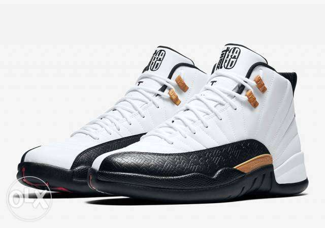 Air Jordan 12 Retro CNY - White/Black Surulere - image 1