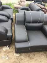 Simple catchy leather sofa 7 seater