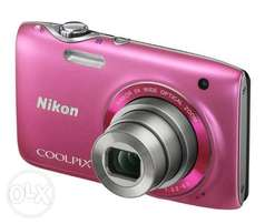 Almost new Nikon COOLPIX S3100 14 MP Digital Camera with 5x OR SWAP