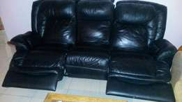 Genuine Leather recliner couches