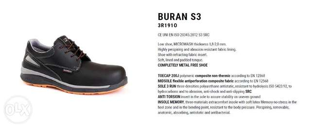 BURAN safety shoes GIASCO Italy
