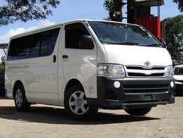 Toyota Hiace Pearl White in Color