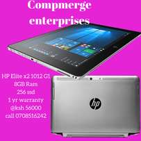 HP elite x2 1012 core m tablet 8gb ram 256 ssd