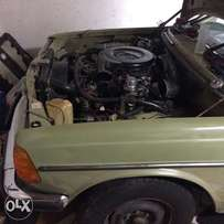 W123 restoration project unfinished