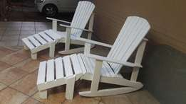 Adirondack Chairs & Bench for sale