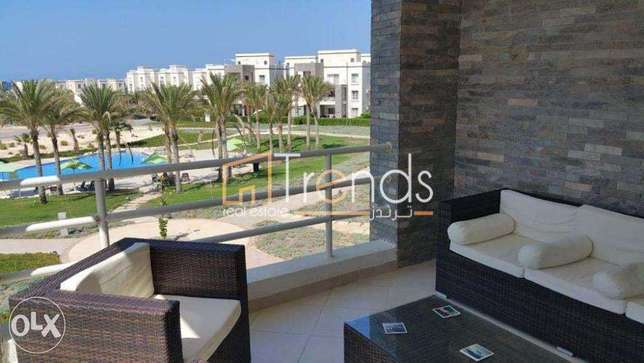 115m Chalet + 80m Roof for sale in Amwaj - North Coast with View
