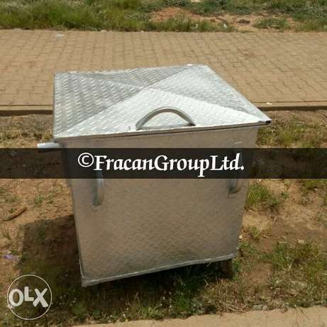 Galvanized 1200 liter AEPB specified waste bin . Free delivery Abuja - image 2