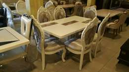 Royal executive marble dining table 6setter