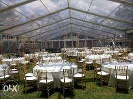 clear A frame tent for hire