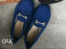 New Look flat shoe available in blue, black and brown