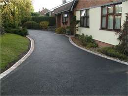 tar surfacing, tennis courts and paving