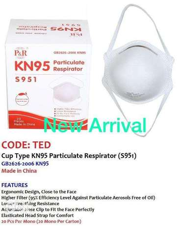 COdE:tED,cUP TyPE Kn95 PaRticULATe ReSPIraTOr(s9591)
