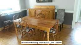 Soled wooden dining suite
