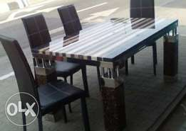 Stylish brand new marble dinning table.