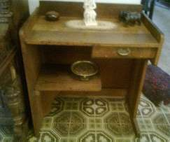 Antique Oak Writing Desk and Chairs