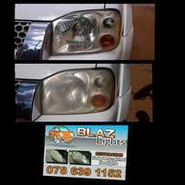Cleaning of faded car head lamps