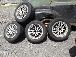 Tyres and Rims set bmw 205/60/16