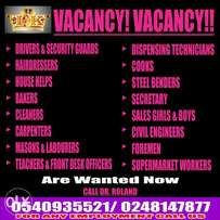 Female house help wanted urgently from outside accra
