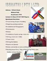 All round building services,paving,electrical,plumbing,building e.tc.