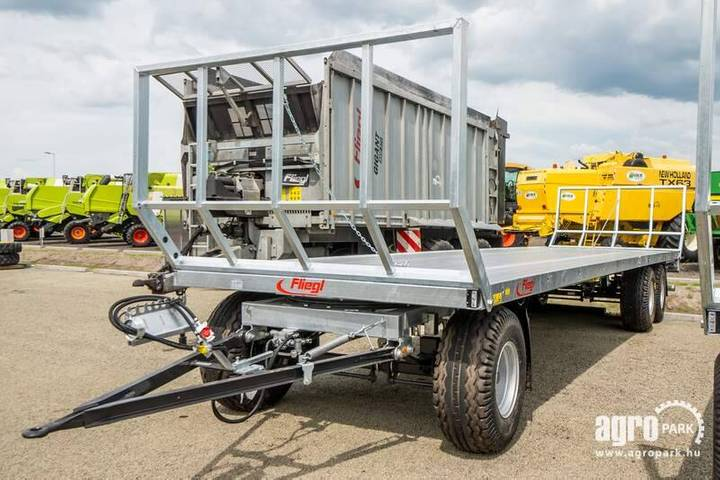 Fliegl New Three-axle Bale Trailer, 40 Km/h Version - 2019