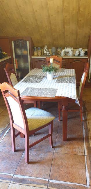 Stół Do Kuchni Jadalni 4 Krzesła Kolor Jabłoń Polanka