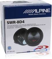 "ALPINE SWR 8D4, 8"" TYPE R High Performance Subwoofer"