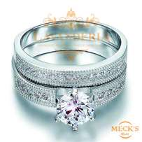 Double Ring Design Genuine Silver Promissory,Cocktail & Engagement