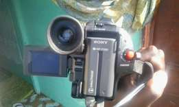 Sony video camcorder with upto 64X zoom and in good condition