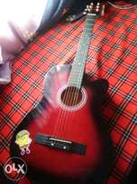 Crimson Red guitar with case for sale