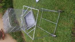 Galvanised Parrot cage and stand