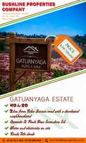 Plots for sale in Gatuanyaga
