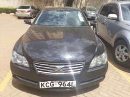 Very low mileage Toyota Mark X.