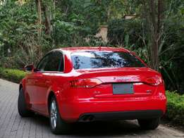 Audi A4 red color