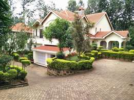 Runda 5 bdrm+guest house: To let