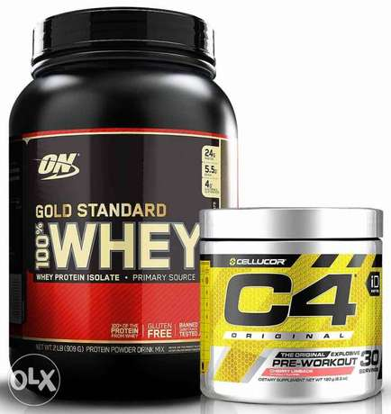 Special OFFER Gold standard whey protein and C4 pre workout PACK.