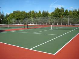 Tennis courts and all tar surfacing