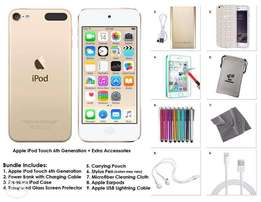 Apple iPod Touch 6th Generation 128GB Gold and Accessories