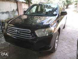 2009 Toyota highlander, direct tokunbo