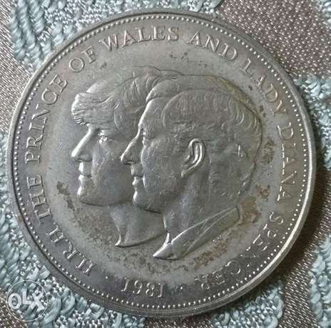 Charles & Diana Memorial Coin for their marriage year 1981 Diam. 40mm
