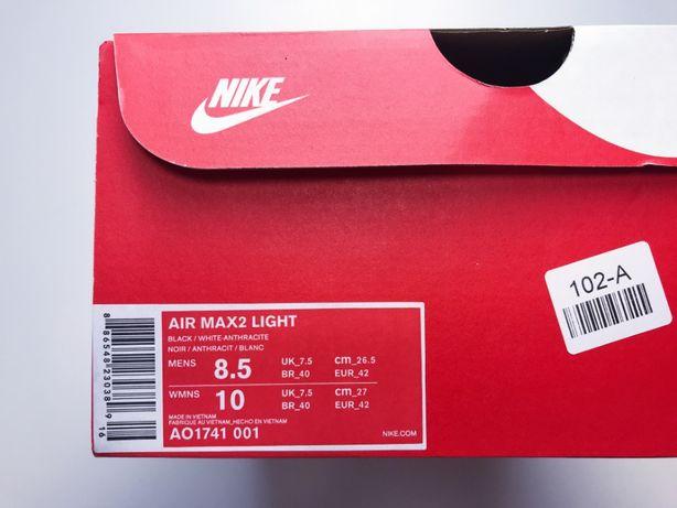 Nike Air Max 2 Light Black White Anthracite 8.5 42 26,5cm am