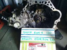 Toyota RunX 160 3ZZ Manual Gearbox For Sale