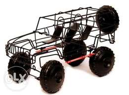 wire cars and bakkies