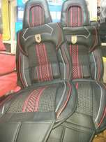 Seatcovers Black With red linnings.