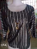 Black and Gold Glittering Top